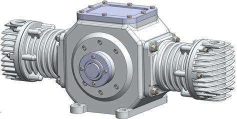 hypocycloid air compressor free 3d model cgtrader