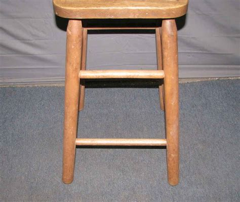 wooden high chair or stool olde things