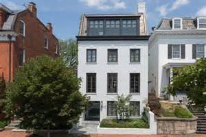 Townhome Floor Plan Impeccable Modern Townhouse In Georgetown With Glass