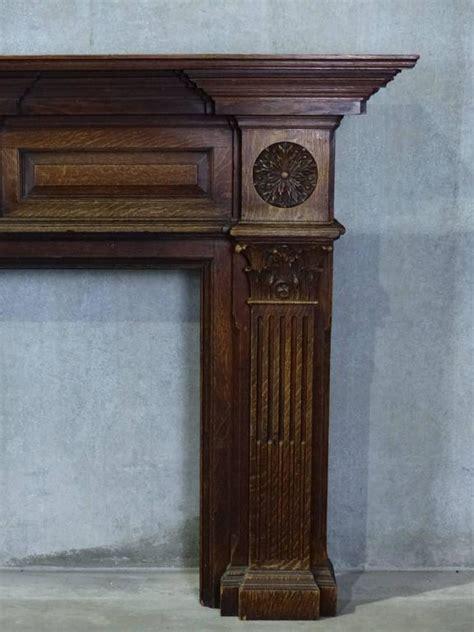 Large Fireplace Mantels by 19th Century Large Oak Estate Fireplace Mantel At 1stdibs