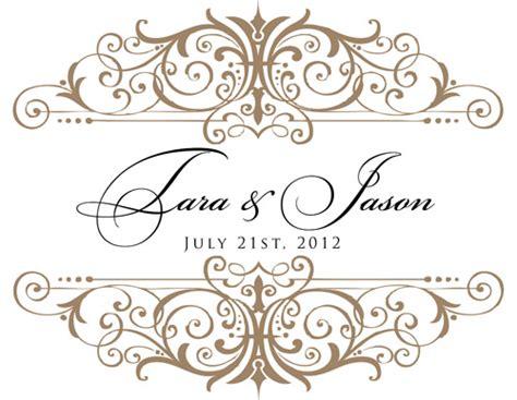 Custom beige and black wedding monogram for tara amp jason