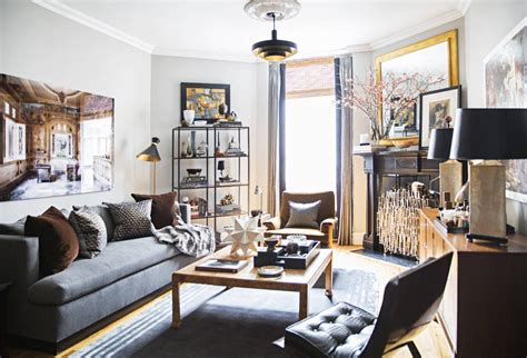 Masculine Living Room Decor by Historic One Bedroom Apartment Gets A Metropolitan New
