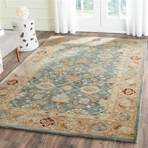 Safavieh Antiquity Teal Blue Taupe 6 Ft X 9 Ft Area Rug Where Can I Buy Area Rugs