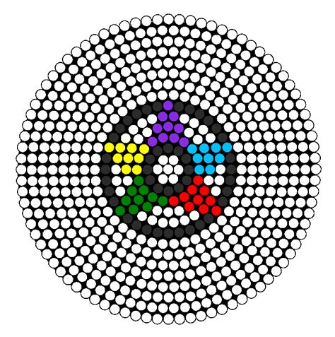 easy perler bead designs pentagram perler perler bead pattern bead sprites