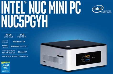 Diskon Mini Pc Intel Nuc Nuc5pgyh Quadcore N3700 2 4ghz intel s fully configured quot braswell quot nuc nuc5pgyh is now