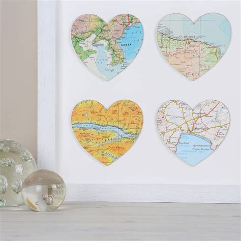 Wedding Anniversary Locations by Personalised Six Map Hearts Wedding Anniversary Print By