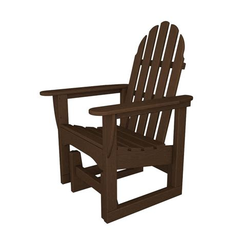 Adirondack Chairs Lowes by Shop Polywood Mahogany Recycled Plastic Casual Adirondack