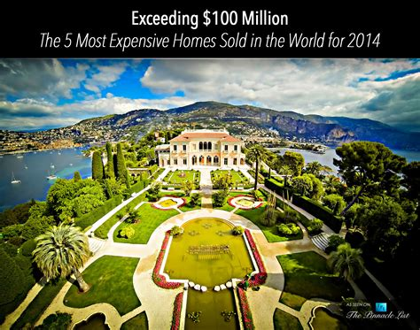 most expensive house in the world exceeding 100 million the 5 most expensive homes sold
