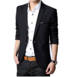 2015 blazer masculino slim dress jackets for men black