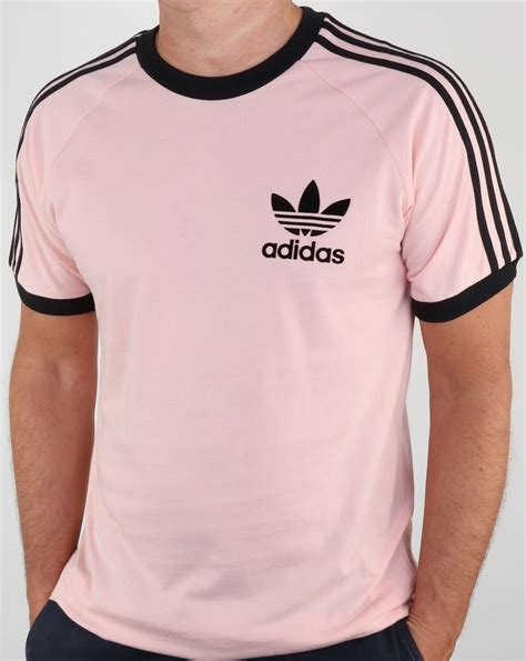 T Shirt Adidas Pink adidas originals clfn t shirt vapour pink black3 stripes