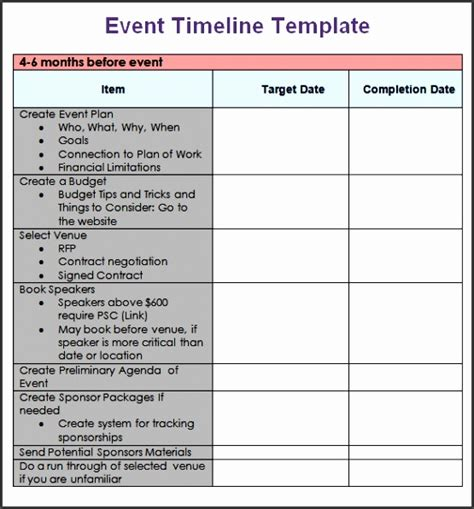 wedding planning schedule template 9 event program format sletemplatess sletemplatess