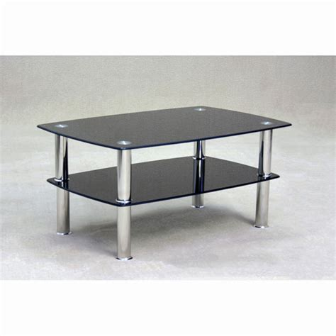 harvey coffee table in clear glass with chrome legs buy