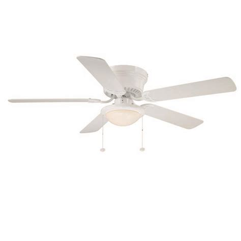 Hugger 52 In Led Indoor White Ceiling Fan With Light Kit Ceiling Fan Light Kit White