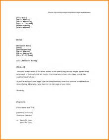 Business Letter Block Styles 8 Block Style Business Letter Technician Resume