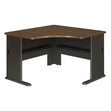 Bush Bbf Series A 48w Corner Desk In Sienna Walnut Wc25566 Walnut Corner Computer Desk