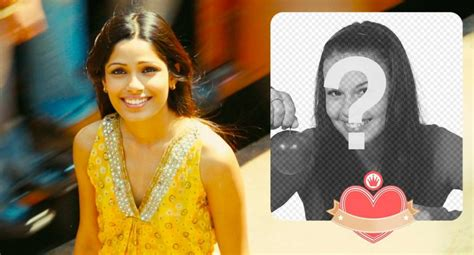 film actress photo frame photo frame of actress freida pinto