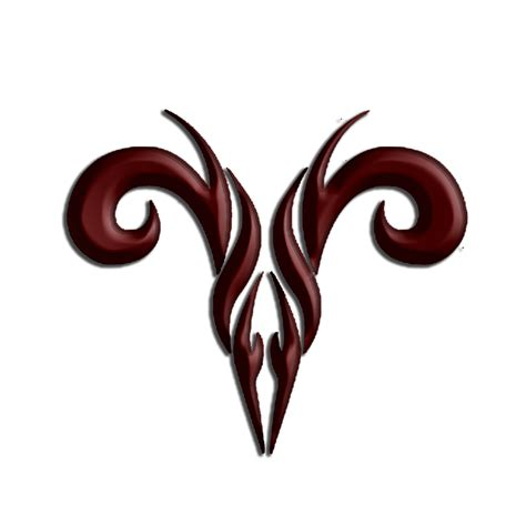 aries tribal symbol tattoo tribal brown ink aries design