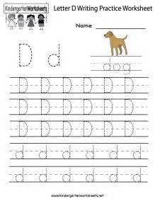 Kindergarten Break Letter kindergarten writing handwriting practice worksheets letter d letter