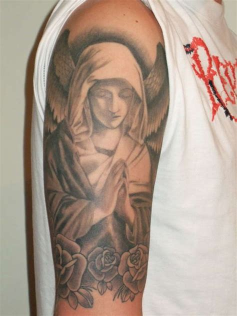 quarter sleeve angel tattoo half sleeve tattoo designs