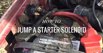 starting problems here s how to jump a starter solenoid