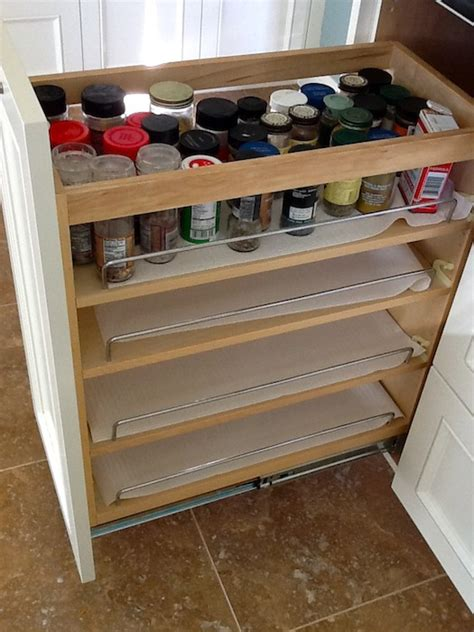 kitchen cabinet pull out spice rack cage design buildmust kitchen cabinet accessories