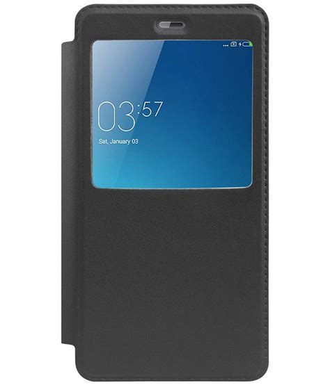 Flip Cover Xiaomi Note xiaomi redmi note 4 flip cover by raykay black flip covers at low prices snapdeal india