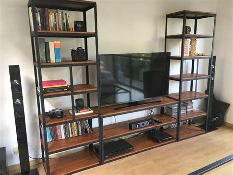 mueble de madera para tv mueble para tv industrial estanter 237 a metal madera vintage