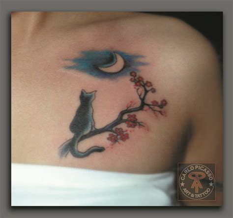 tattoo cat mini 16 best images about cherry blossoms cats on pinterest