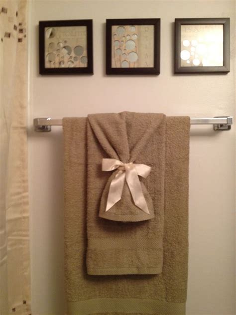 tied up in bathroom towels and ribbons on pinterest