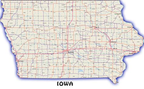 detailed map of iowa road map iowa afputra
