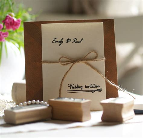 diy wedding invitations personalised rubber sts set by