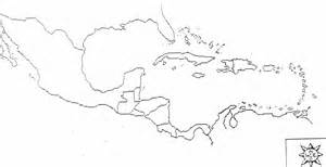 Outline Map Of America And Caribbean by Blank Map Central America Caribbean Islands