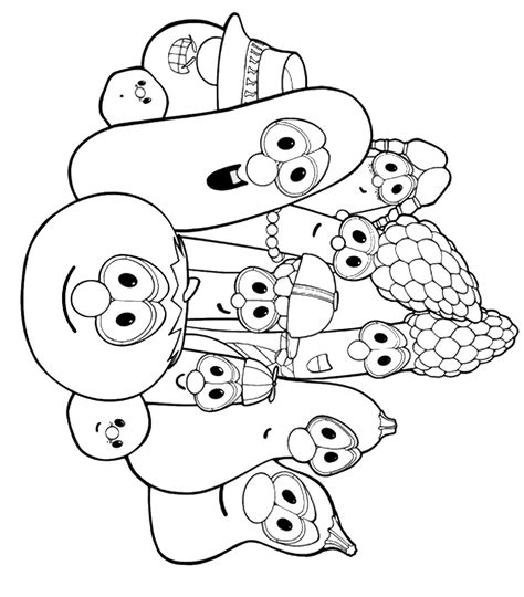 Veggie Tales Coloring Pages Download And Print For Free Veggietales Coloring Pages