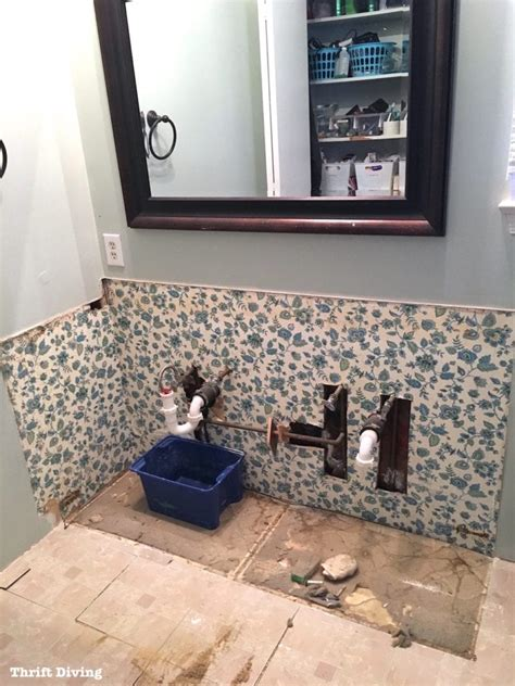 How To Remove An Old Bathroom Vanity Thrift Diving Blog How To Remove A Bathroom Vanity