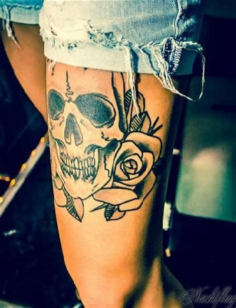 skull thigh tattoos 25 best ideas about skull thigh tattoos on