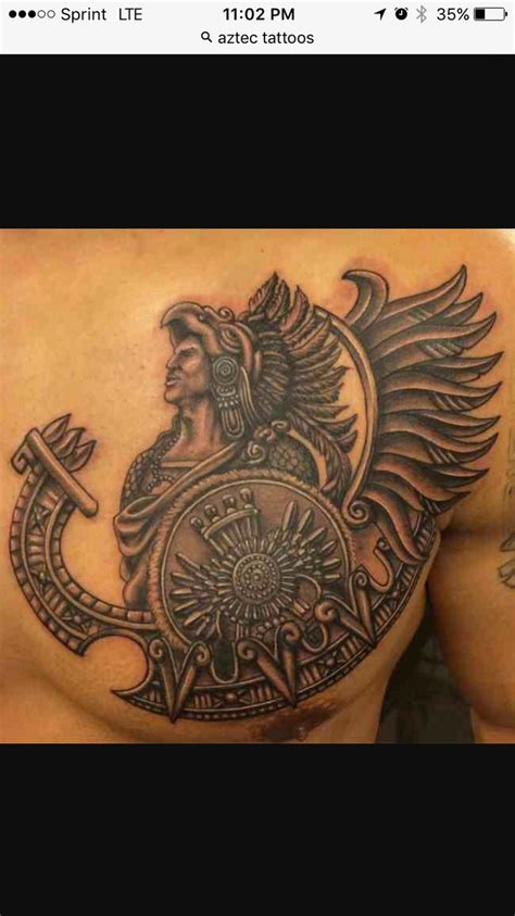 aztec god tattoo designs best 25 aztec warrior ideas on aztec