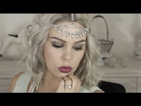 simple makeover for great gatsby great gatsby easy halloween costume makeup youtube