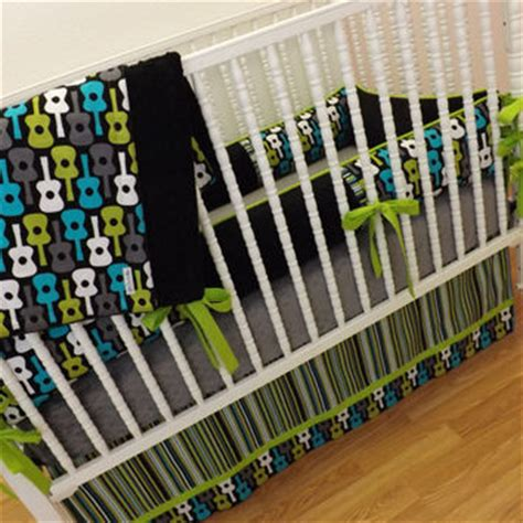 Guitar Crib Bedding Crib Bedding Made To Order Groovy Guitar From Littlecharliemay On
