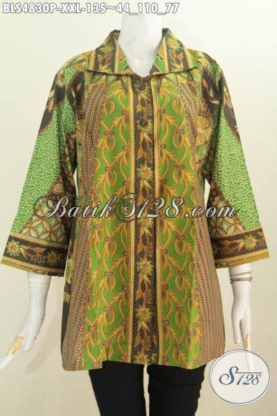 jual baju xxl online jual online blus batik motif klasik ukuran jumbo baju
