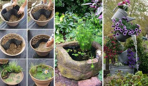 diy backyard projects on a budget 21 fascinating low budget diy mini ponds in a pot amazing diy interior home design