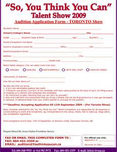talent show registration form template best photos of singing printable template singing award