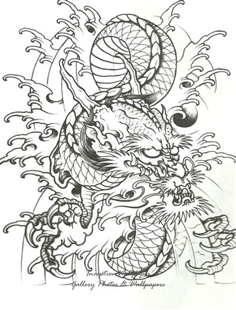 oriental tattoo outlines chinese dragon tattoo designs tattoos