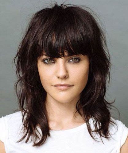 medium haircut with bangs 9 trendy medium length hairstyles for thick hair