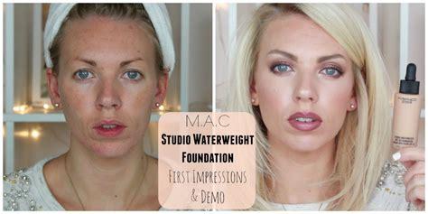 Mac Studio Waterweight Foundation mac studio waterweight foundation impressions