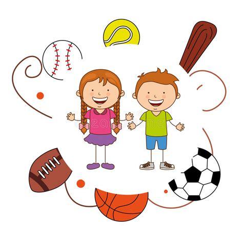 imagenes niños jugando caricaturas deportes de los ni 241 os ilustraci 243 n del vector ilustraci 243 n