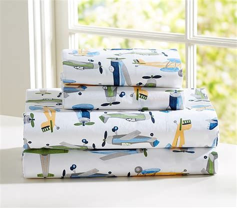 Airplane Sheet Set Twin Pottery Barn Kids Pottery Barn Airplane Crib Bedding