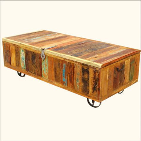 wood wrought iron storage box coffee from
