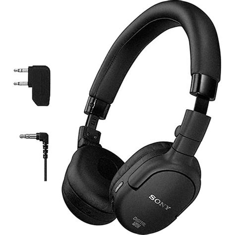 Headset Sony Dnc sony mdr nc200d digital noise canceling on ear mdrnc200d b h