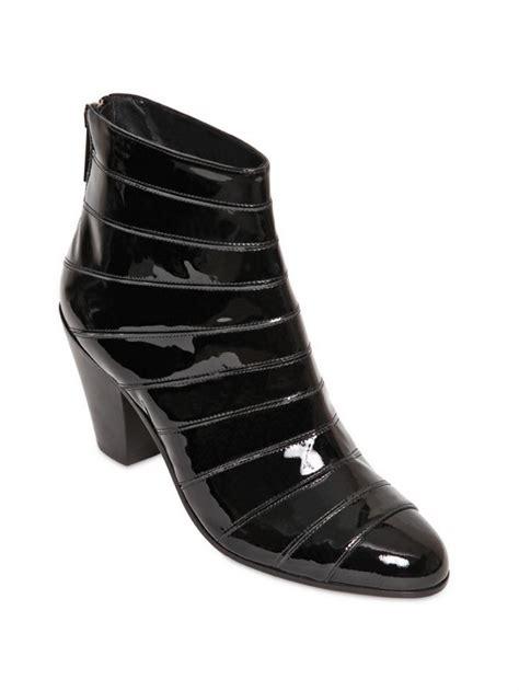 gareth pugh mens boots lyst gareth pugh 50mm cuban heel patent leather boots in