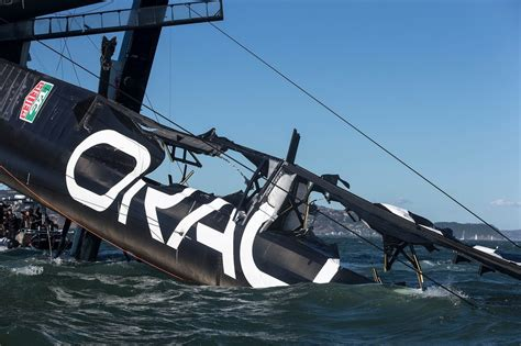 oracle hydrofoil boat oracle team usa capsizes its biggest baddest boat
